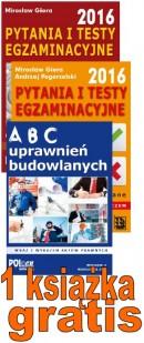 1 Uprawnienia budowlane 2016 - Pakiet egzaminacyjny nr1 - książka gratis