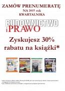 BUDOWNICTWO I PRAWO (kwartalnik) - PRENUMERATA NA 2017 rok