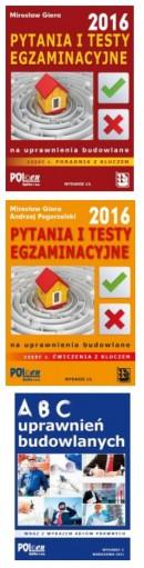 Pakiet egzaminacyjny na uprawnienia budowlane 2016 - 1 książka gratis